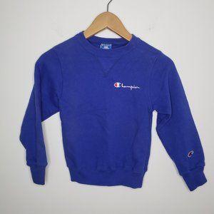 Vintage Champion Blue Sweatshirt Kids Size S (6-8)